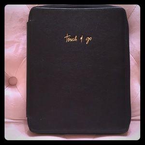 Rebecca Minkoff Black Leather iPad Cover
